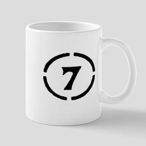 Plain Circle Seven Mugs