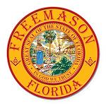 Florida Freemasons Round Car Magnet