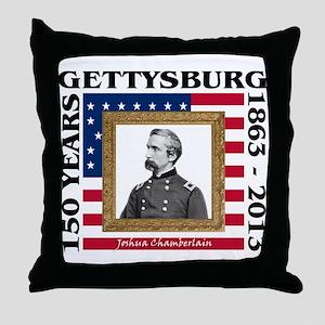 Joshua Chamberlain - Gettysburg Throw Pillow