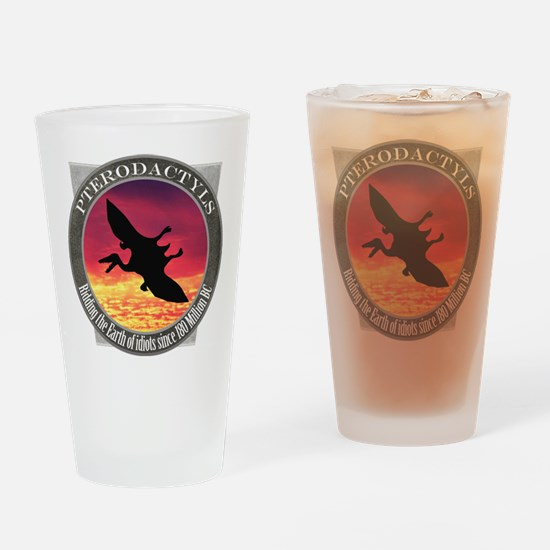 Pterodactyls Drinking Glass
