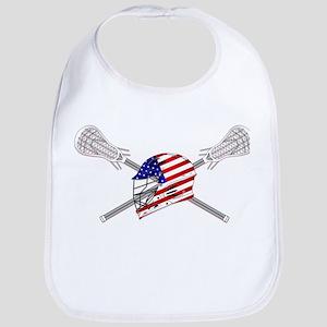 American Flag Lacrosse Helmet Bib