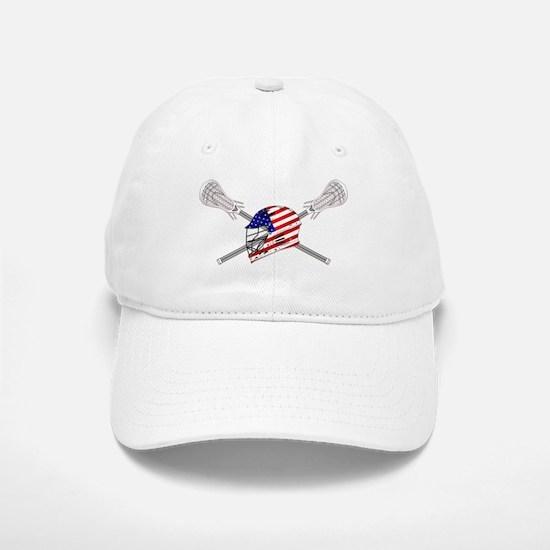 American Flag Lacrosse Helmet Baseball Baseball Cap