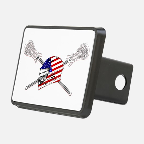 American Flag Lacrosse Helmet Hitch Cover