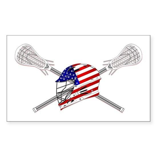 American Flag Lacrosse Helmet