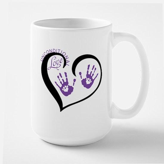 uncoditional love 2.png Large Mug