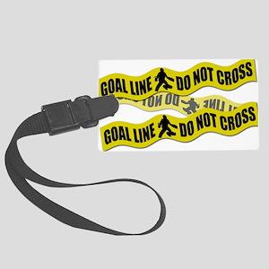 Field Hockey Crime Tape Large Luggage Tag