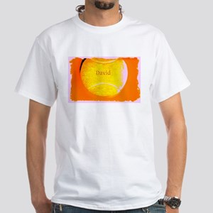 Tennis Name Customizabe Wearable Art White T-Shirt
