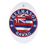 Hawaiian Freemason Ornament (Oval)