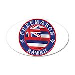 Hawaiian Freemason 35x21 Oval Wall Decal