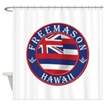 Hawaiian Freemason Shower Curtain