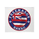Hawaiian Freemason Throw Blanket