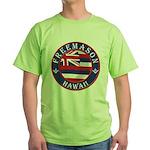 Hawaiian Freemason Green T-Shirt