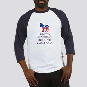 Annoy A Republican Use Facts Baseball Jersey