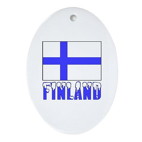 Flag 10x10 Sample Ornament (Oval)