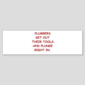 PLUMBERS Sticker (Bumper)