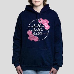delta delta delta floral Women's Hooded Sweatshirt