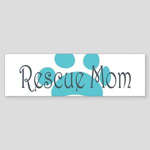 Rescue Dog Mom Sticker (Bumper)