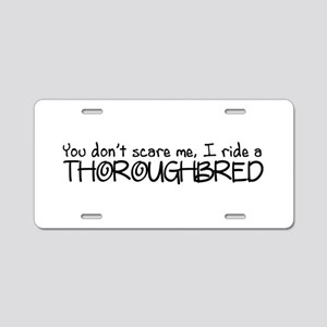 Thoroughbred Aluminum License Plate