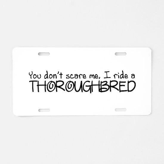Thoroughbred Aluminum License Plate