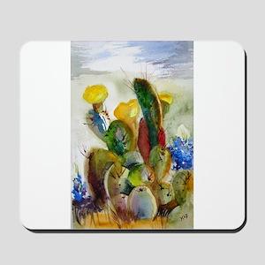Bluebonnets and Cacti Mousepad