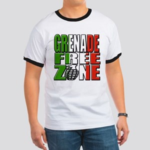 Grenade Free Zone Jersey Shore Ringer T