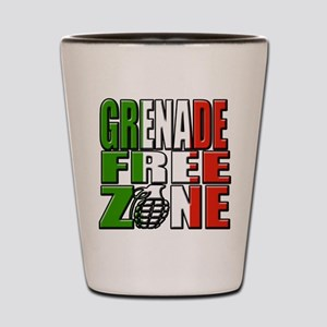 Grenade Free Zone Jersey Shore Shot Glass