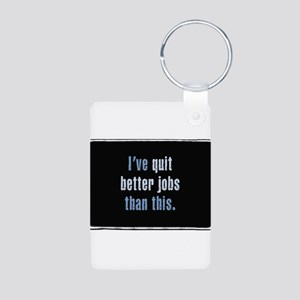 QuitJobs Aluminum Photo Keychain