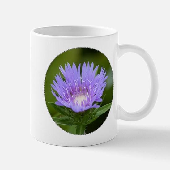 Purple Stokesia laevis - Mug