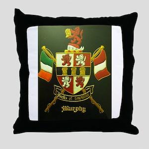 murphy crest Throw Pillow