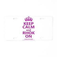 RHOK on Aluminum License Plate
