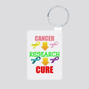 Cancer, Research, CURE Aluminum Photo Keychain