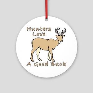 Good Buck Ornament (Round)