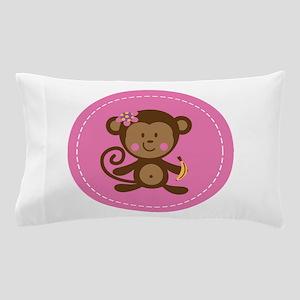 Monkey Girl - Pink Pillow Case
