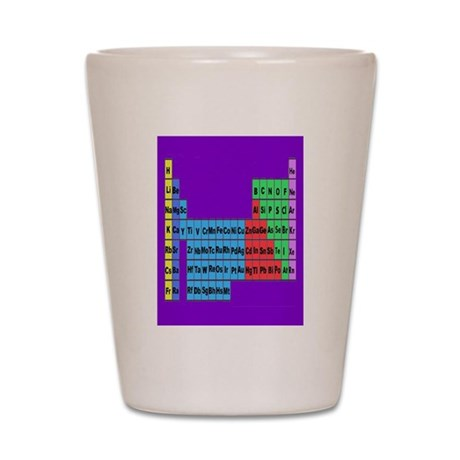 periodic table vertical purple Shot Glass