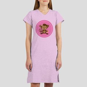 Monkey Girl - Pink Women's Nightshirt