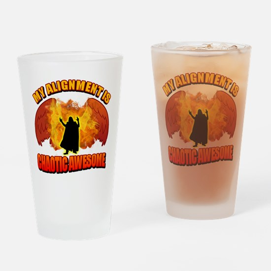 Chaotic Awesome Drinking Glass