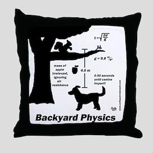 Backyard Physics Throw Pillow