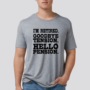Retired Goodbye Tension Hel Mens Tri-blend T-Shirt