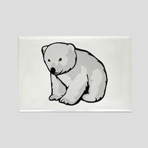 Polar Bear Cub Rectangle Magnet