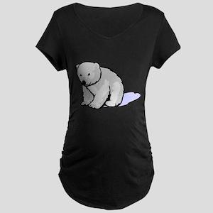 Polar Bear Cub Maternity Dark T-Shirt