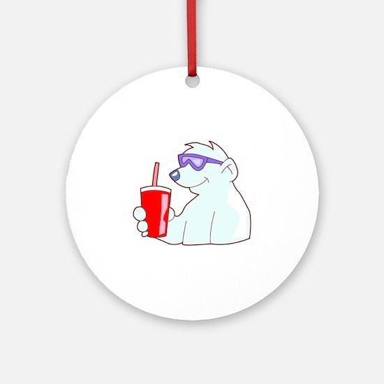 Cool Polar Bear Ornament (Round)