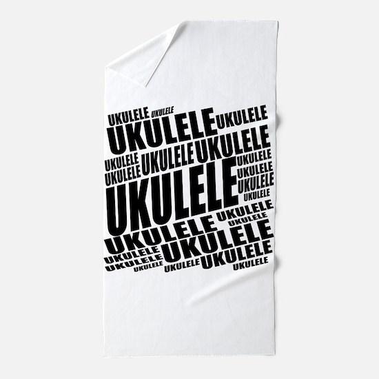 Popular Ukulele Beach Towel
