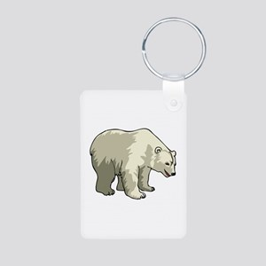Polar Bear Aluminum Photo Keychain