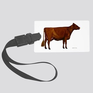 Shorthorn dairy cow Large Luggage Tag