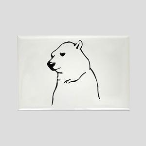 Polar Bear Rectangle Magnet