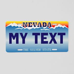 Nevada Silver State Custom Aluminum License Plate