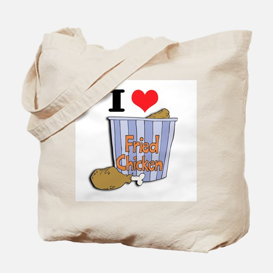 I Heart (Love) Fried Chicken Tote Bag