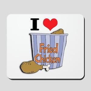 I Heart (Love) Fried Chicken Mousepad