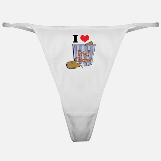 I Heart (Love) Fried Chicken Classic Thong