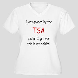 lousy TSA t-shirt Women's Plus Size V-Neck T-Shirt